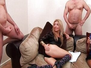 Two mature ladies and men at a big cock party