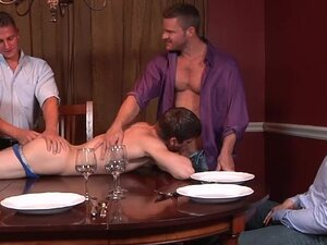 Twink Johnny Rapid gang banged by three men, This