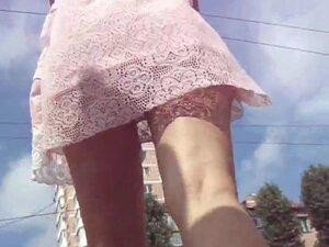 Nice upskirts with slender voyeur video