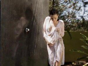 Sexy teen girl Valeria teasing under shower