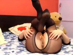 Cute pantyhose poser