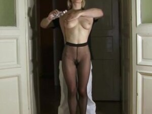 Blonde beauty tied up and groped