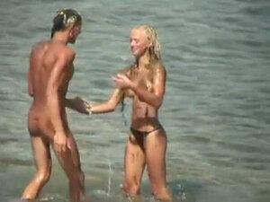 Voyeur Nice Tits on public beach