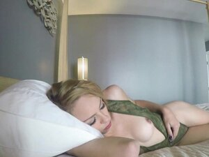 LUBED Cutie Zoe Clark wakes up to massage and dick
