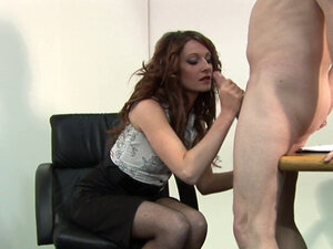 CFNM domina rides dick and gets doggy styled