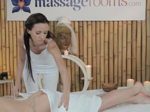 Massage Rooms Stunning lesbians have oily fun and