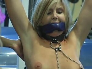 Lesbian Femdom Workout at the Gym, This hot blonde
