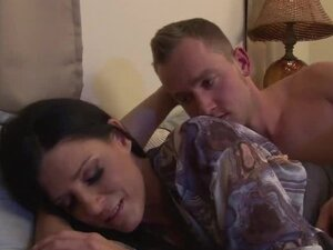 Lustful raven-haired cougar India sucks and rides