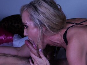 Horny blonde mature milf fucks with a stud