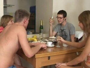 Top group sex caught on cam