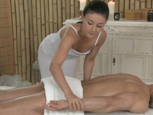 Massage Rooms Horny young masseuse fucks big dick