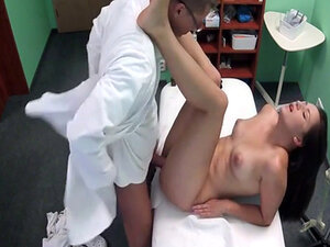 Doctor with big dick fucks cute patient