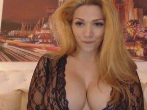 Gorgeous blonde big tits talks dirty