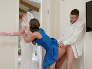 Brunette bangs his bff before his wedding