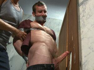 Edging a hot cop in a public restroom, Mike Gaite