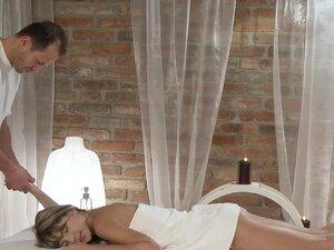 Slim brunette hottie bangs masseur, Slim Euro