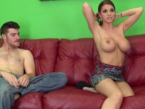 Big tits Brooklyn fucked hard by a monster cock