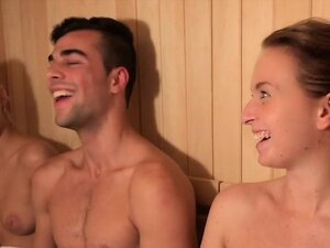 Nigerian and Czech fucking in a sauna for