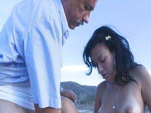 Hot chick fucked on beach
