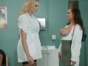 Dirty Nurse Threesome With One Lucky Guy Nikki