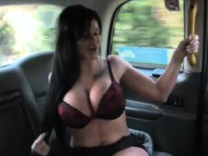 Busty TV star screwed by pervert driver to off her