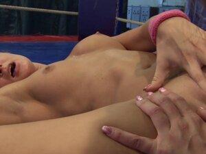Finger banged euro dyke enjoys wrestling