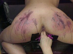 Blonde slut Goddess Starla abused with hot wax and