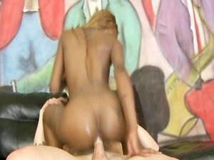 Dirty Black Ghetto Slut Riding Rough On White Cock