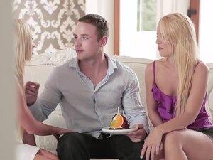 Vanda Lust and Kiara Lord give Ryan a nice blowjob