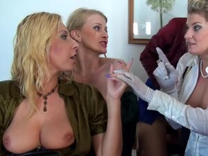 Bride and babes have lesbian orgy