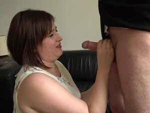 Chubby Brit toys pussy while analized by dom
