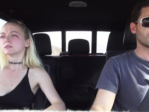 SEX IN A CAR WITH HORNY BLONDE TEEN IRIS ROSE