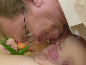 Naughty babe likes old men
