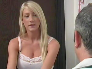 Blonde Nadia Hilton bangs her lovely puss