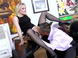 Secretary Ash Hollywood fucking in black