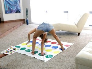 Playing Twister With Cute Brunette Riley Reid