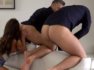 Hot threesome rimming and anal with petite