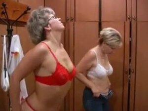 Russian moms Irina - Valia in the sauna,