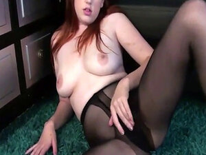 Redhead needs it in her pantyhose
