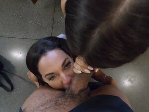 Two college girls, one big black cock -