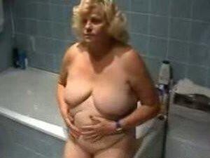 Oma Ella in her bathroom