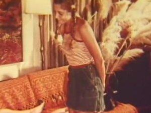 Teen in Pigtails Pleasing Her Man's Dick (1960s