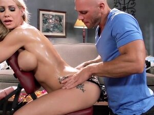 Massage Chair Muff, Simone Sonay was just relaxing