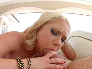 Allinternal Blonde takes a big dick in her tight