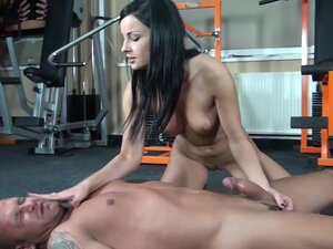 Dark haired femdom gives her ### a blowjob after
