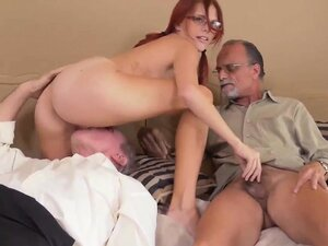 Guy fuck his old sister and old professor fucks