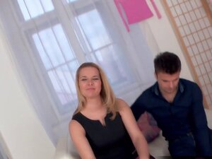Blonde wife fucks while husband watches
