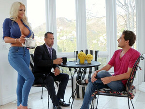 Blonde mom Nicolette Shea seduces her stepson -