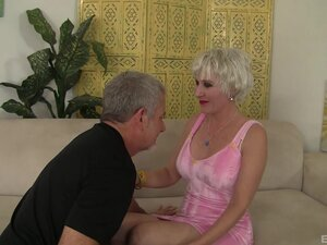 Mature Crystal Taylor with short hair fucked by a