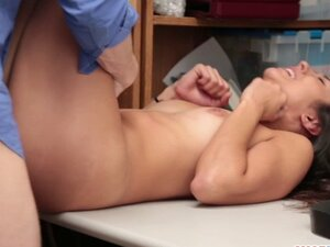 Hot shoplifter babe Lily Hall fucks for freedom